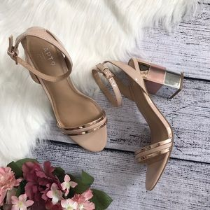 Apt. 9 Shoes - APT. 9 Metallic Color Block Strappy Heels 00565